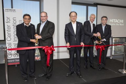 Hitachi executives at Ribbon Cutting Ceremony.
