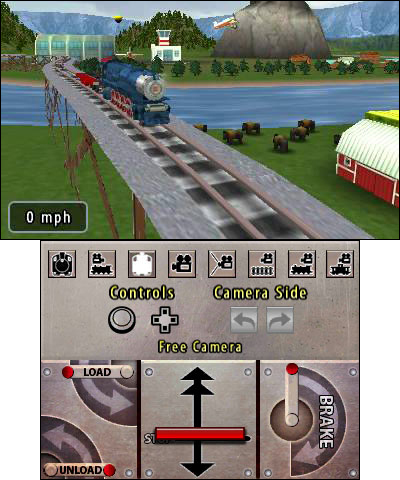 Create your own world and drive your custom-built train right through it in the Lionel City Builder 3D: Rise of the Rails game, released exclusively on the Nintendo 3DS system. (Photo: Business Wire)