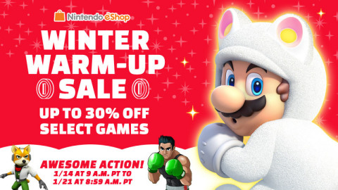 Warm up your new year with three weeks of savings in the Nintendo eShop! (Photo: Business Wire)