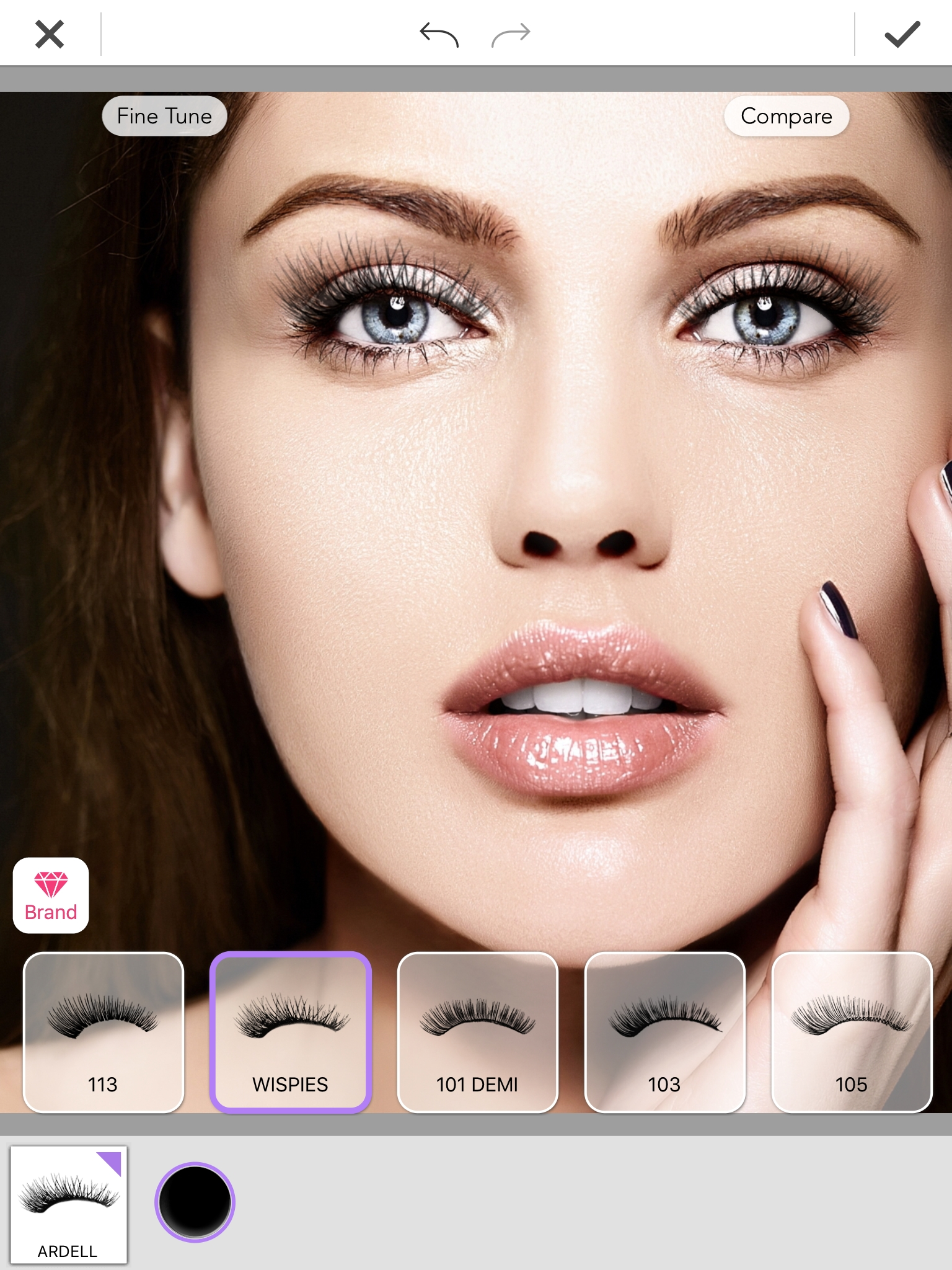 """23e1b6d21ab """"Look Before You Lash"""" with Ardell's Virtual Eyelash Suite in YouCam Makeup  Beauty App 