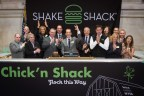 Shake Shack ring NYSE Opening Bell to celebrate the debut of new Chick'n Shack sandwich (Photo: Business Wire)