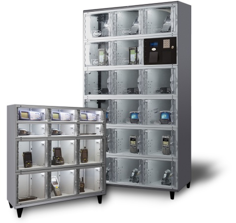 Apex automated locker systems automate management of the handheld electronic devices that are critical to retailers and distribution centers. (Photo: Business Wire)