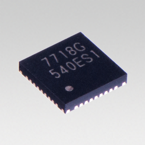 "Toshiba: a wireless power transmitter IC ""TC7718FTG"" with a 15W transmission capability. (Photo: Bus ..."