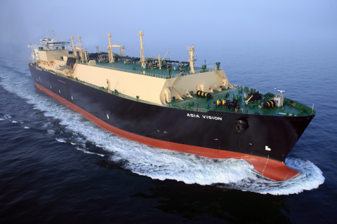 The Asia Vision is one of Chevron's new liquefied natural gas (LNG) carriers constructed to support  ...