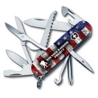 Victorinox Swiss Army is proudly supporting Wounded Warrior Project® (WWP) and has developed an exclusive Swiss Army Knife Collection featuring eight co-branded knife designs, such as the Fieldmaster Flag design commemorative knife. For every Wounded Warrior Project® (WWP) Swiss Army Knife sold from January 1, 2016 through December 31, 2016, Victorinox Swiss Army will donate 5% of the manufacturer's suggested retail price directly to WWP, with a guaranteed minimum donation of $100,000, to fund unique, direct programs and services to meet the needs of injured service members. (Photo: Business Wire)