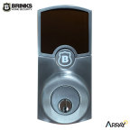 """Hampton Products International is introducing the Brink's Home Security Array™ digital deadbolt, a technologically advanced, cloud- and app-enabled digital door lock that can be installed without adding separate hubs or accessories, making it one of the most consumer-friendly Smart Home lock products available. By including a highly efficient, proprietary power system, Array allows consumers to use their existing Wi-Fi routers to connect the deadbolt to the cloud, providing a """"security simplified"""" solution for homeowners looking to upgrade from traditional deadbolts. (Photo: Business Wire)"""