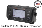 USCG approved em-trak Class A AIS transceiver (Graphic: Business Wire)