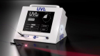 The UVLrx Station™ Model UVL1500 offers the first intravenous, concurrent delivery of ultraviolet-A (UVA) and multiple visible light wavelengths for treating a variety of medical indications. Using the company's patent-pending Dry Light Adapter™ and a standard IV catheter, the device treats blood intravenously, thus eliminating the need for removal of blood from the body. (Photo: Business Wire)