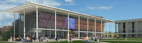 Artist rendering of largest Philips Flex media installation in the United States at Watt Family Innovation Center at Clemson University. (Photo: Business Wire)