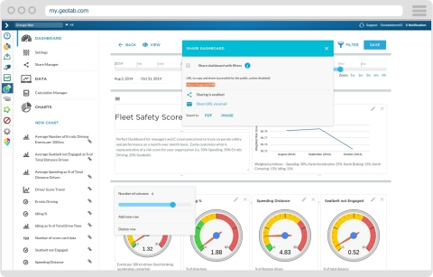 Example of data visualization in MyGeotab (Photo: Business Wire)