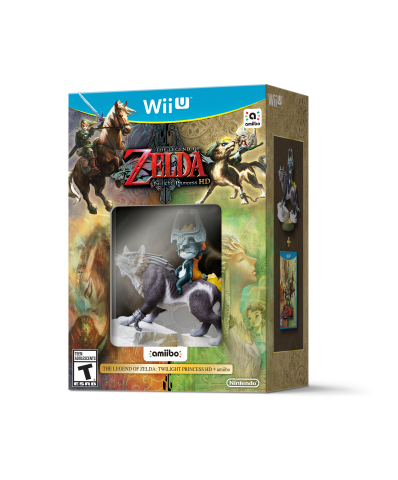 When the physical version of The Legend of Zelda: Twilight Princess HD launches on March 4 at a suggested retail price of $59.99, it will include a beautiful Wolf Link amiibo figure based on the same character from the classic game. (Photo: Business Wire)