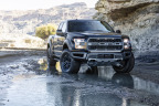 Auto Start-Stop technology will be standard across 100 percent of the EcoBoost®-equipped 2017 Ford F-150 lineup, including the all-new F-150 Raptor ultimate high-performance off-road truck. Auto Start-Stop shuts off the engine when the vehicle is at a stop – except when towing or in four-wheel-drive mode – to give drivers power on demand when they need it most. (Photo: Business Wire)