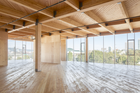 2016 Commercial Wood Design winner, Framework, Portland, OR, Architect: Works Partnership Architecture, Structural Engineer: TM Rippey Consulting Engineers, Photo credit: Joshua Jay Elliot