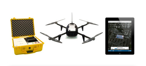 The fully automated Kespry Drone System comes complete with drone, K Box, battery, charger, iPad, an ...