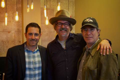 From left: David Weitzman (ole, VP Business Development), songwriter Jeff Trott, and Bennett Kaufman (Maverick Entertainment).