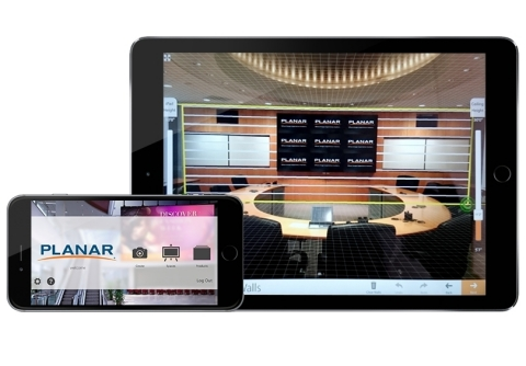 Virtually design Planar displays into a space with PlanarView (Graphic: Business Wire)