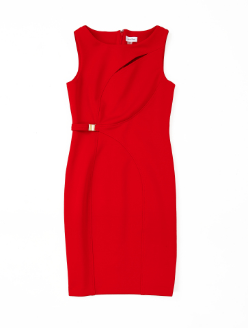 Exclusive red dress by Calvin Klein benefiting Go Red For Women. Available in select stores and on m ...