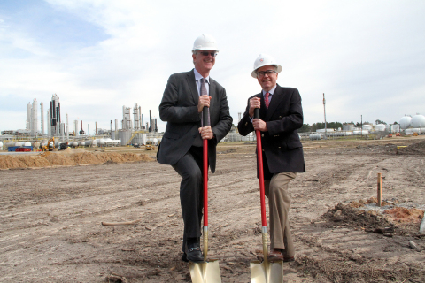 David Sudolsky, CEO of Anellotech and Simon Upfill-Brown, CEO of Trecora Resources, break ground on  ...