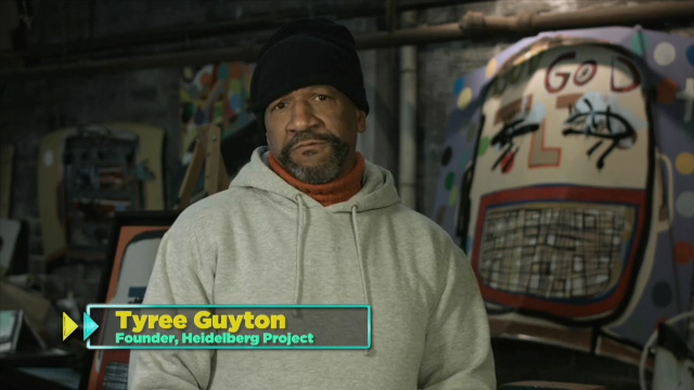 """TV One's Change Agents: History in the Making """"Becoming the Change: Tyree Guyton"""" by Alton Glass (Courtesy: TV One)"""