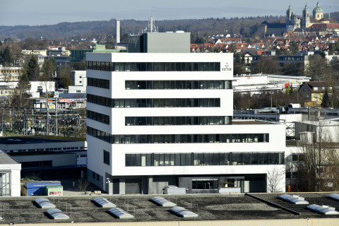 View of the newly completed multi-functional building, part of Vetter's overall Schuetzenstrasse sit ...