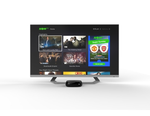 New UI on current NOW TV Box (Photo: Business Wire)