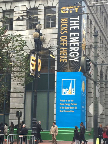 PG&E is proud to be the official Clean Energy Partner of the Super Bowl 50 Host Committee powering S ...