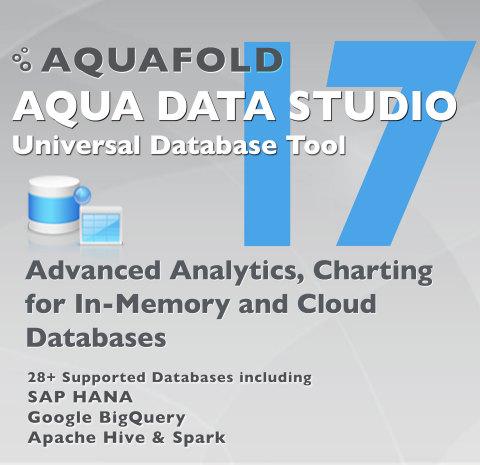 Aqua Data Studio 17 (Graphic: Business Wire)