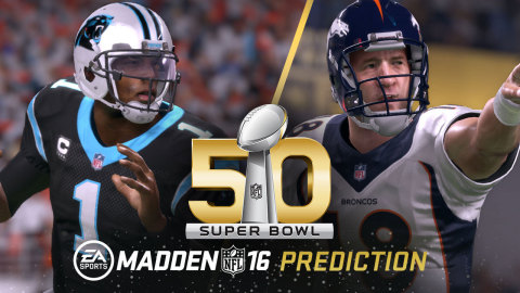 Official Madden NFL 16 Super Bowl Prediction Crowns Carolina Panthers as NFL Champs (Graphic: Business Wire)
