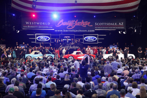 Barrett-Jackson kicked off its 45th anniversary year with their biggest event of 2016, achieving record car sales and charity auctions, as well as delivering star-studded entertainment (Photo: Business Wire)