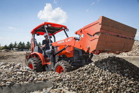 The Kubota L47 is a true three-in-one machine, capable of loading and excavating as well as having the capability to perform other work chores using auxiliary and/or PTO-driven implements. (Photo: Business Wire)