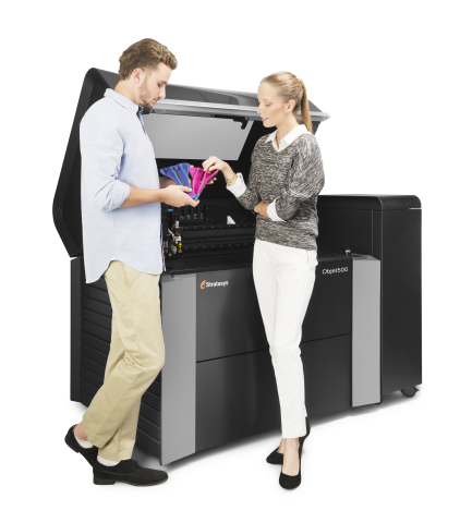 Stratasys' Enhanced Objet500 Connex3 Multi-material, Multi-color 3D Printer - Bridging Adoption Chasm with Streamlined Workflow, Greater Ease-of-Use and Better Economic Value (Photo: Business Wire).