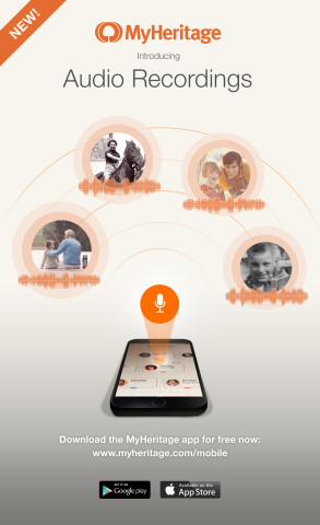 MyHeritage Adds Audio Recordings for Preserving Family History (Photo: Business Wire)