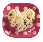 Just like all Bojangles' famous buttermilk biscuits, our unique Heart-Shaped Bo-Berry biscuits are made-from-scratch with sweet Bo-Berries baked right inside, then lightly drizzled with a delectably sweet vanilla icing. (Photo: Bojangles', Inc.)