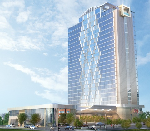 Exterior Rendering of The Westin Nashville opening Fall 2016  (Photo: Business Wire)