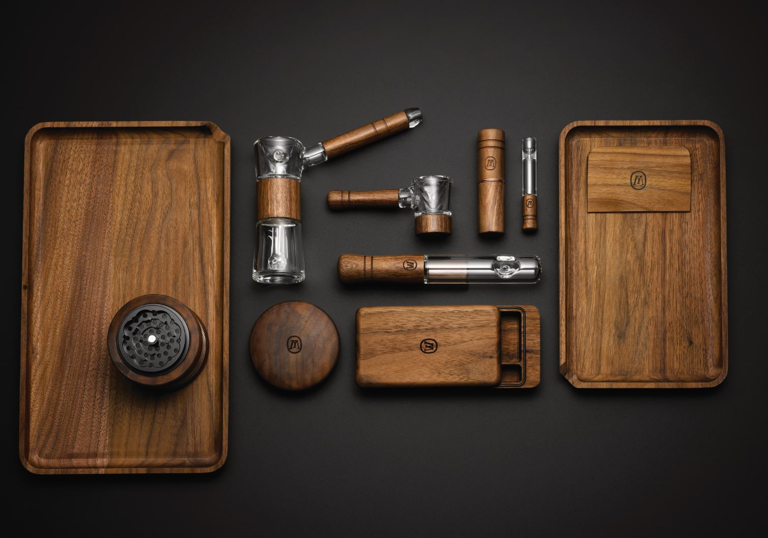 Balancing intuitive design with Jamaican-inspired accents, Marley Natural's collection of smoking, storage and preparation accessories feature products made from sustainably grown American Black Walnut wood and heat-resistant, hand-blown glass.(Photo: Business Wire)