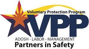 """The Arizona Division of Occupational Safety and Health (ADOSH) has recertified the Palo Verde Nuclear Generation Station with its Voluntary Protection Program (VPP) STAR designation. The nation's largest nuclear power plant - which was first certified with VPP STAR status in 2013 and designated as one of Arizona's safest industrial workplaces - was again recognized for demonstrating """"above and beyond"""" Occupational Safety and Health Administration (OSHA) standards in the state of Arizona. (Graphic: Business Wire)"""