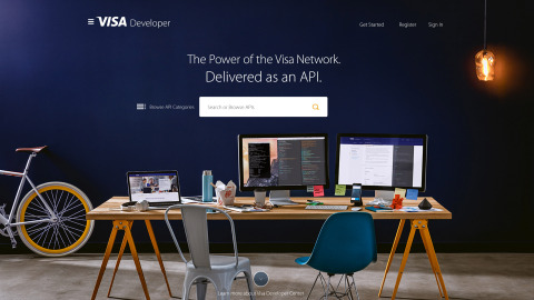 Visa Developer homepage (Photo: Business Wire)