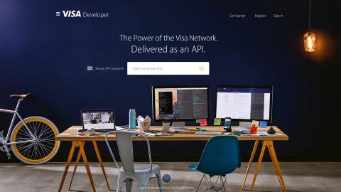 Visa Developer homepage (Photo: Business Wire)