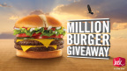 Jack in the Box announces its Million Burger Giveaway celebrating its Declaration of Delicious and the new Double Jack burger. (Graphic: Business Wire)