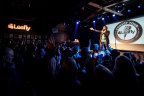 Comedian T.J. Miller performs in front of a sold-out crowd at the first stop on Leafly's Comedy Tour in Seattle. (Photo: Business Wire)