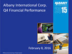 Albany International Corp. Q4 2015 Earnings Call Slides