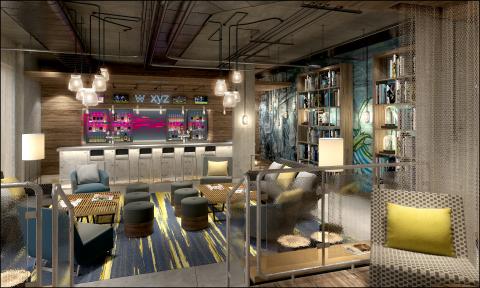 Rendering of w xyz bar at Aloft Brighton (Photo: Business Wire)