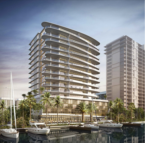 Rendering of the AquaBlu development (Photo: Business Wire)