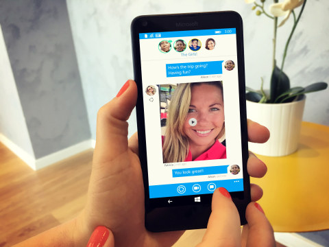 "Glide's live video messaging app is now available for Windows 10 Mobile & Windows Phone 8.1. Since it combines the convenience of texting with the expressiveness of video, friends can see you smile and laugh instead of getting an emoji or an ""LOL."" (Photo: Business Wire)"
