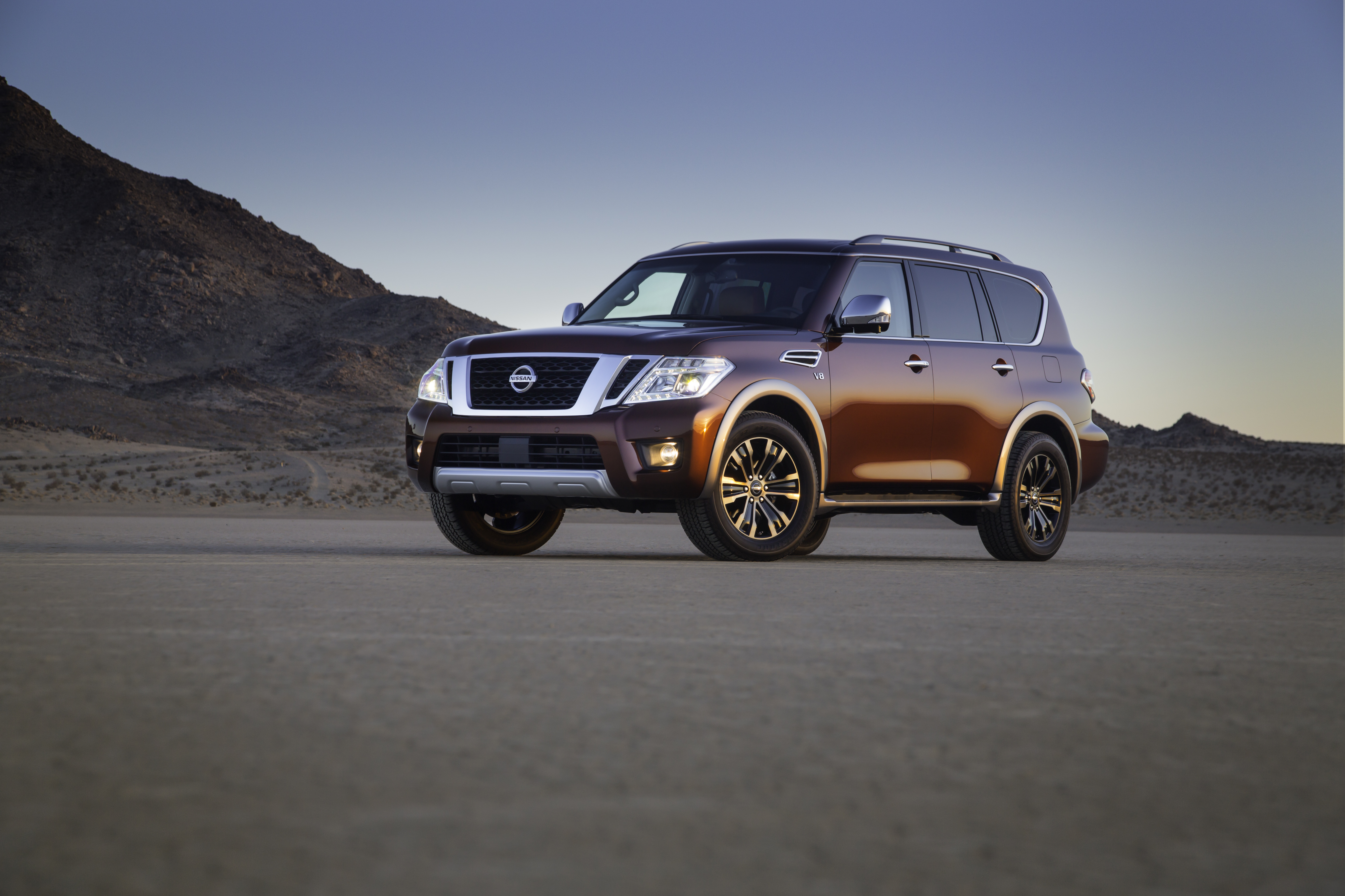 2017 nissan armada full size suv makes world debut at chicago auto full size vanachro Choice Image