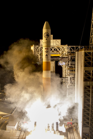 Vandenberg Air Force Base, Calif. (Feb. 10, 2016) – A United Launch Alliance (ULA) Delta IV rocket boosted by two Orbital ATK GEM-60 motors carrying the NROL-45 mission lifted off from Space Launch Complex 6 at 3:40 a.m. PST. Photo by United Launch Alliance