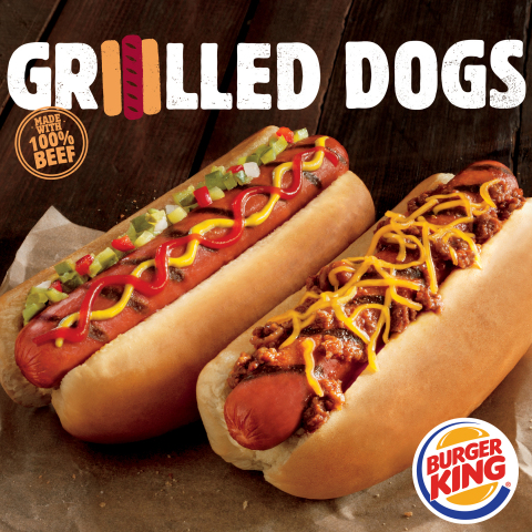 BURGER KING® Restaurants to Become Largest Restaurant Chain in U.S. to Serve Flame-Grilled Hot Dogs (Photo: Business Wire)