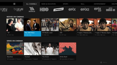 Cinemax is now available on Sling TV, providing subscribers with a live, linear channel, more than 500 on-demand movies and TV shows, and all of the channel's popular original series. (Photo: Business Wire)