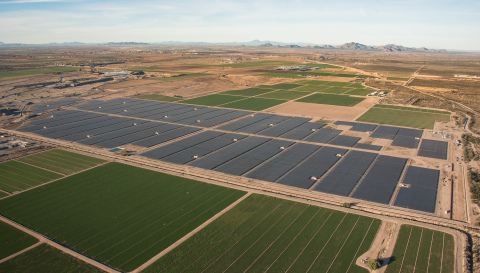 sPower and Salt River Project today announced the opening of sPower Sandstone Solar in Florence, Ariz. It has more than 182,000 photovoltaic modules, making it one of the Valley's largest solar facilities. (Photo: Business Wire)