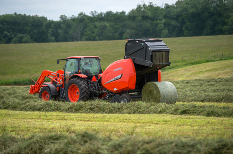 Kubota adds Three New Variances to Round Baler Line Featuring Net Binding Systems. (Photo: Business Wire)